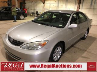Used 2004 Toyota Camry LE 4D Sedan FWD for sale in Calgary, AB