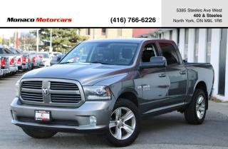 Used 2013 RAM 1500 4WD SPORT CREW CAB - LEATHER|BACKUP|ALPINE|ALLOYS for sale in North York, ON