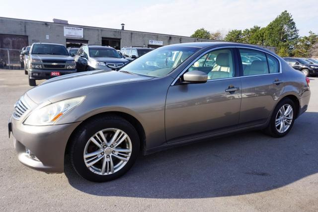 2010 Infiniti G Sedan G37x AWD LUXRY PKG CERTIFIED 2YR WARRANTY *1 OWNER*FREE ACCIDENT* NAVI CAMERA SUNROOF BLUETOOTH MEMORY HEATED ALLOYS