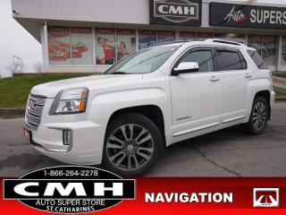 Used 2017 GMC Terrain Denali  NAV CAM BLIND-SPOT COL-WARN ROOF LEATH for sale in St. Catharines, ON