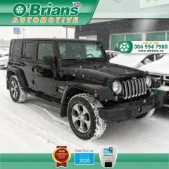 Used 2018 Jeep Wrangler JK Unlimited Sahara - Trail Rated w/4x4, Navigation, Leather, Heated Seats for sale in Saskatoon, SK