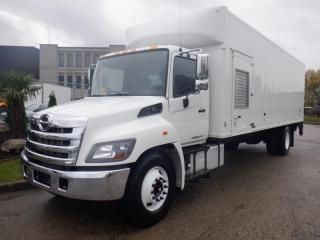 Used 2018 Hino 338 26 Foot Diesel Cube Van with Hydraulic Brakes and Power Liftgate for sale in Burnaby, BC