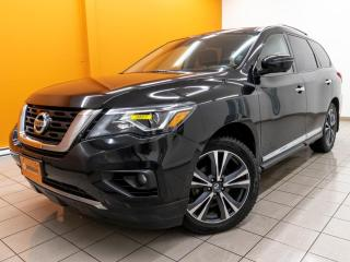 Used 2017 Nissan Pathfinder PLATINUM AWD NAV CUIR RÉG ADAP ALERTES *TOIT PANO* for sale in St-Jérôme, QC