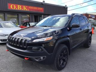 Used 2017 Jeep Cherokee 4WD-Trailhawk-CAMERA RECUL-BLUETOOTH-CUIR- for sale in Laval, QC