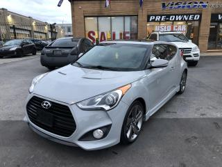 Used 2013 Hyundai Veloster 3dr Cpe Man Turbo w-Matte Grey-NAVIGATION for sale in North York, ON