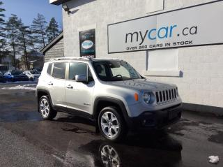 Used 2017 Jeep Renegade Limited LEATHER, NAV, TARGA TOP, HEATED SEATS, WOW!! for sale in Richmond, ON