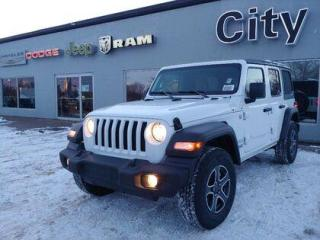 New 2021 Jeep Wrangler Unlimited Sport | Tan Seats | Alpine | Heated Seat for sale in Medicine Hat, AB