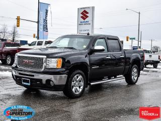 Used 2013 GMC Sierra 1500 SLT Crew Cab 4x4 ~Nav ~Cam ~Leather ~Moonroof for sale in Barrie, ON