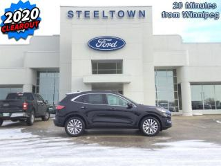 New 2020 Ford Escape Titanium  - Leather Seats -  Heated Seats for sale in Selkirk, MB