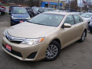 Used 2012 Toyota Camry LE,BLUETOTH,LOW KM'S,CERTIFIED,ONTARIO CAR,NO RUST for sale in Kitchener, ON