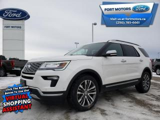 Used 2018 Ford Explorer Platinum  - Leather Seats -  Cooled Seats - $335 B/W for sale in Fort St John, BC