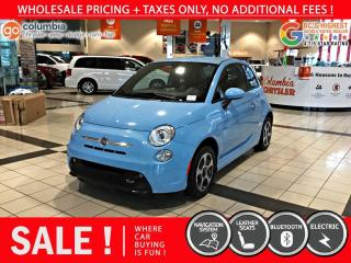 Used 2017 Fiat 500 E 500e - No Accdient / Nav / No Dealer Fees / Low Kms for sale in Richmond, BC
