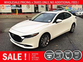 Used 2019 Mazda MAZDA3 GT - No Accident / Nav / Sunroof / Leather for sale in Richmond, BC