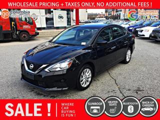 Used 2019 Nissan Sentra SV 4dr FWD Sedan - Sunroof / Heated Seats / No Dealer Fees for sale in Richmond, BC