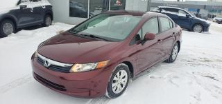 Used 2012 Honda Civic Sdn LX for sale in Regina, SK