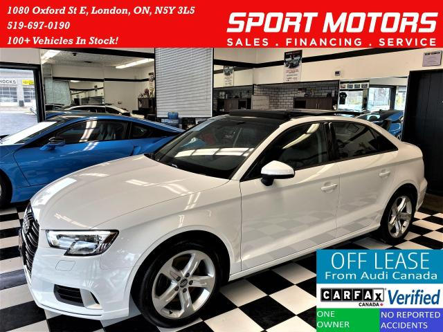 2017 Audi A3 TFSI S-Tronic+Pano Roof+Apple Play+ACCIDENT FREE