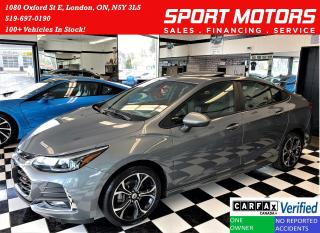 Used 2019 Chevrolet Cruze LT+Sunroof+Apple Play+New Tires+ACCIDENT FREE for sale in London, ON
