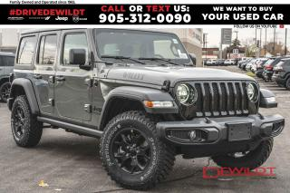 New 2021 Jeep Wrangler Unlimited Willys | Diesel | Tow Pkg | Dual Tops | for sale in Hamilton, ON