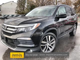 Used 2016 Honda Pilot Touring PERFORATED LEATHER  ROOF  NAVI  BLIS  HTD for sale in Ottawa, ON