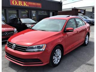 Used 2016 Volkswagen Jetta CONFORT SPORT-TOIT OUVRANT-CAMERA RECUL-BLUETOOTH for sale in Laval, QC