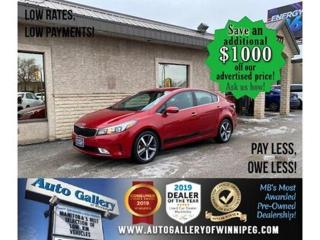 Used 2017 Kia Forte EX* B.cam/B.tooth/Htd seats/Roof for sale in Winnipeg, MB