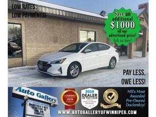 Used 2019 Hyundai Elantra Preferred* B.cam/B.tooth/Htd seats for sale in Winnipeg, MB