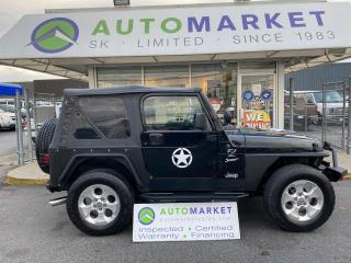 Used 2000 Jeep Wrangler Sport TONS OF EXTRA'S! MUST BE SEEN! FREE BCAA & WRNTY! for sale in Langley, BC