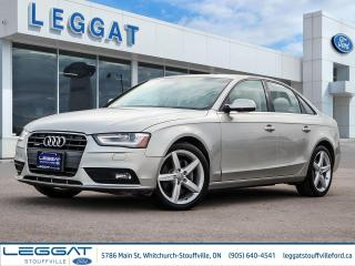 Used 2013 Audi A4 2.0T Premium Plus - LOW MILEAGE, LOCAL TRADE-IN - for sale in Stouffville, ON