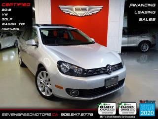 Used 2012 Volkswagen Golf Wagon TDI HIGHLINE | ACCIDENT FREE | CERTIFIED | FINANCE @ 4.65% for sale in Oakville, ON