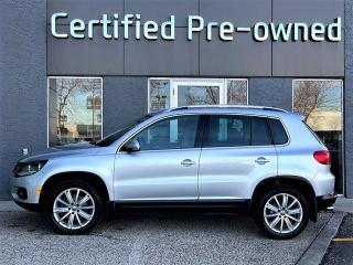 Used 2017 Volkswagen Tiguan COMFORTLINE w/ AWD / LEATHER / PANO ROOF / NAVI for sale in Calgary, AB