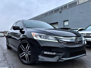Used 2017 Honda Accord Sedan SPORTS|ALLOYS|HETAED POWER SEAT|SUNROOF|REAR VIEW! for sale in Brampton, ON