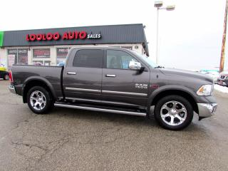 Used 2015 RAM 1500 Laramie Crew Cab 4WD Diesel Navi Camera Certified for sale in Milton, ON