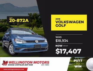 Used 2018 Volkswagen Golf Comfortline / New Front Tires.... for sale in Guelph, ON