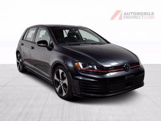 Used 2017 Volkswagen Golf GTI GOLF GTI AUTOBAHN CUIR TOIT MAGS NAV CAMERA DE RE for sale in St-Hubert, QC