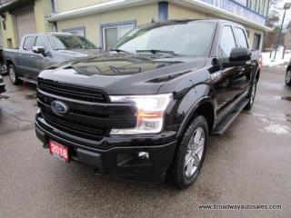 Used 2018 Ford F-150 LOADED LARIAT EDITION 5 PASSENGER 3.5L - V6 - TURBO.. 4X4.. CREW-CAB.. SHORTY.. NAVIGATION.. LEATHER.. HEATED & AC SEATS.. BACK-UP CAMERA.. for sale in Bradford, ON