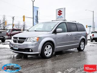 Used 2014 Dodge Grand Caravan Crew ~Nav ~DVD ~Cam ~Leather ~Power Doors ~Sunroof for sale in Barrie, ON