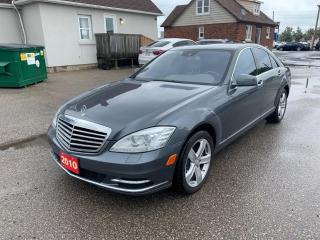 Used 2010 Mercedes-Benz S450 AS IS SALE *  S 450 4MATIC * Navigation * Back Up Camera * Sunroof * Leather * Push Start * ADAPTIVE BRAKE braking system w/hill start assist ATTENTIO for sale in Cambridge, ON