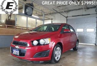 Used 2015 Chevrolet Sonic LT/ GREAT PRICE ONLY $7995 for sale in Barrie, ON