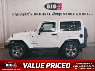 Used 2017 Jeep Wrangler SAHARA 4WD for sale in Calgary, AB