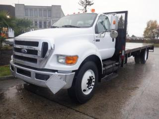 Used 2010 Ford F-750 Regular Cab 2WD DRW 24 Foot  Flat Deck Diesel for sale in Burnaby, BC
