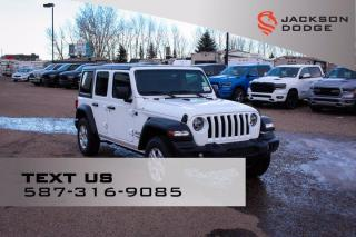 New 2021 Jeep Wrangler Sport | Navigation | Heated Seats & Steering Wheel | Remote Start for sale in Medicine Hat, AB