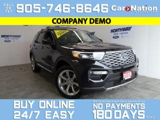 Used 2020 Ford Explorer PLATINUM | 4X4 | REAR SEAT DVDS | ROOF | 21'' RIMS for sale in Brantford, ON
