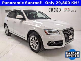 Used 2017 Audi Q5 2.0T Progressiv w/Navi *Low KM-Local Trade* for sale in Winnipeg, MB