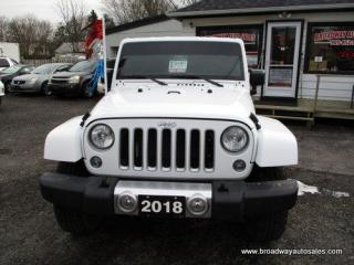 Used 2018 Jeep Wrangler GREAT KM'S UNLIMITED-SAHARA-EDITION 5 PASSENGER 3.6L - V6.. 4X4 SYSTEM.. REMOVEABLE HARD TOP.. BLUETOOTH SYSTEM.. TOUCH SCREEN DISPLAY.. for sale in Bradford, ON