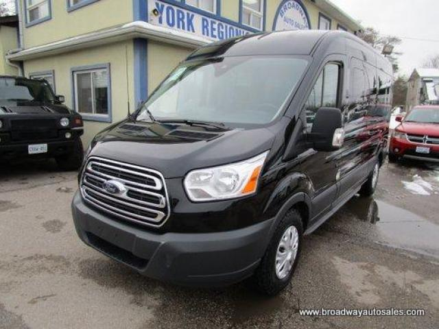 2018 Ford Transit PEOPLE MOVING XLT EDITION 15 PASSENGER 3.7L - V6.. SLIDING PASSENGER DOOR.. MEDIUM ROOF HEIGHT.. 148-INCH-WHEEL-BASE.. BACK-UP CAMERA..