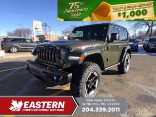 New 2021 Jeep Wrangler Rubicon | Removeable Hard Top | Backup Cam | Blind-Spot Det. | for sale in Winnipeg, MB
