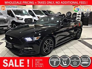 Used 2017 Ford Mustang Mustang Convertible - Local / No Accident / No Dealer Fees for sale in Richmond, BC