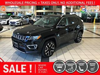 Used 2020 Jeep Compass Limited - Nav / Sunroof / Leather / No Dealer Fees for sale in Richmond, BC