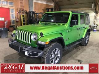 Used 2019 Jeep Wrangler Sahara 4D Utility 4WD for sale in Calgary, AB