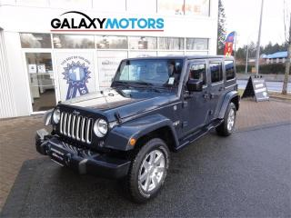 Used 2016 Jeep Wrangler Unlimited SAHARA - Leather, Navigation, Heated Seats for sale in Nanaimo, BC